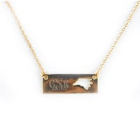 Monogrammed Golden North Carolina Name Plate Necklace | Accessories | Marley Lilly