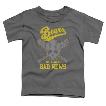 The Bad News Bears Toddler T-Shirt Always Bad Skull Charcoal Tee