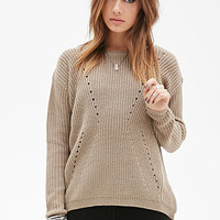 FOREVER 21 Textured Open-Knit Sweater