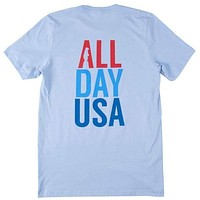 All Day USA Tee in Carolina Blue by Collared Greens