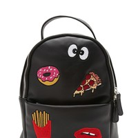 Embroidered Patch Backpack