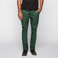 Rvca Week-End Mens Chino Pants Jungle Green  In Sizes