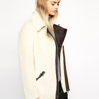 ASOS Biker Jacket in Faux Fur