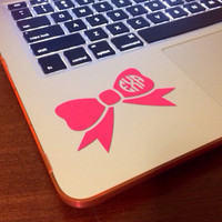 "3"" Wide Bow Monogram Decal. Perfect for Anything"