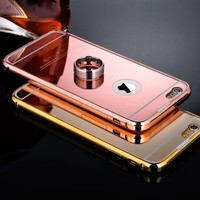 iPhone 6S Case Lauscy Aluminum Ultra thin Mirror Metal Case Cover for Apple iPho...