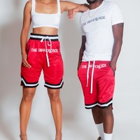 The Difference Basketball Shorts- Red