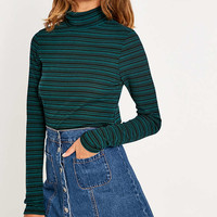 Urban Outfitters Ribbed Stripe Turtleneck Top - Urban Outfitters