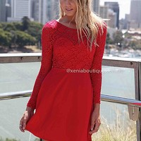 THE LUCKY ONE DRESS , DRESSES, TOPS, BOTTOMS, JACKETS & JUMPERS, ACCESSORIES, 50% OFF SALE, PRE ORDER, NEW ARRIVALS, PLAYSUIT, COLOUR, GIFT VOUCHER,,LACE,Red,BACKLESS Australia, Queensland, Brisbane