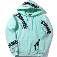 THRASHER Print casual fashion round collar sweater thickening sweater G-A-GHSY-1-1