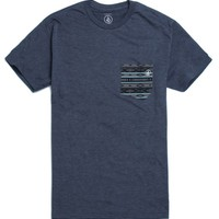 Volcom Stoe Pocket T-Shirt - Mens Tee - Blue