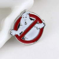 Jewelry Movie Ghostbusters Logo Metal Pin Brooch For Man And Woman