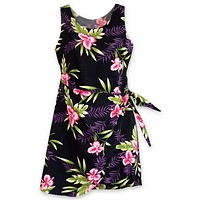 midnight hawaiian honi sarong dress