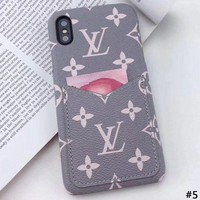 LV leather card iPhoneXSmax phone case