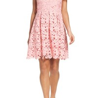 Adelyn Rae Lace Fit & Flare Dress | Nordstrom