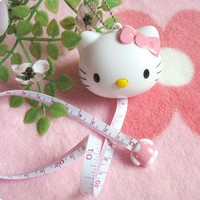 Hello Kitty Drawing Toy Tape Ruler Kid's Drawing Play Toy Tape Measurement Ruler Tapeline Keychain Tape Ruler 1m Ruler G0191