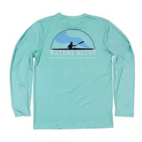 Paddler Long Sleeve Performance Tee Shirt in Mint by Waters Bluff