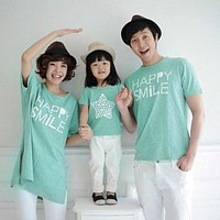 Family Matching Outfits Mommy and Me Clothes New 2017 fashion mother father baby cotton family look short sleeve Family Clothing