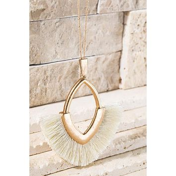 Be True Tassel Necklace - Ivory