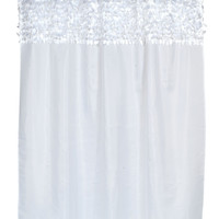 """Latin Fever Dance Party Fabric Shower Curtain  70"""" x 72"""" (White)"""