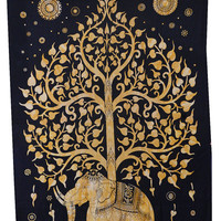Hippie Beautiful Elephant tree of Life tapestry Indian bed spread tapestry hippy Tapestry Indian Tapestry Drom wall hanging indian art