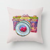 Floral Canon Throw Pillow by Bianca Green