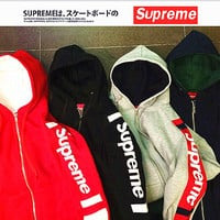 """Supreme""Contracted hooded sweater(4-color)"