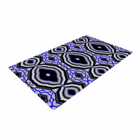 "Dawid Roc ""Inspired By Psychedelic Art 3"" Purple Abstract Woven Area Rug"