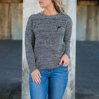 Heathered Heart Top, Gray