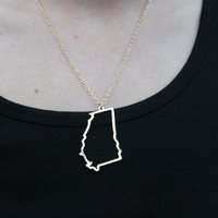 State Cut Out Necklace