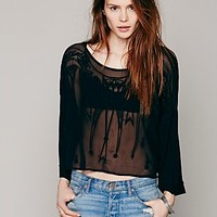 Free People Womens Pandoras Embroidered Top