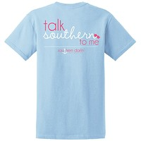 SALE Southern Darlin Talk Southern to Me Bow Funny Country Bright Girlie T-Shirt
