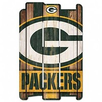 Green Bay Packers Sign 11x17 Wood Fence Style