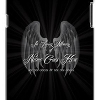 Custom DIY In Loving Memory Of Personalized Memorial with Black Background Samsung Galaxy S5, S 5 Quality PVC Hard Plastic Cell Case for Samsung Galaxy S5, S 5 - AT&T Sprint Verizon - White Case