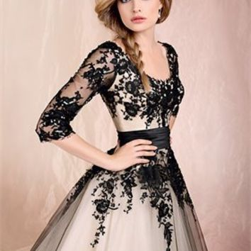 Ball gown off-the-shoulder Black and colour with sweep train cheap 2012 Agora wedding gowns BABG009 -Shop offer 2012 wedding dresses,prom dresses,party dresses for girls on sale. #Category#