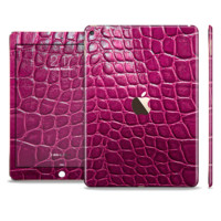 The Bright Magenta Alligator Skin For The iPad Air 2