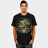 Mexico Flag Seal In Sepia T Shirt By Bruzer Design By Humans