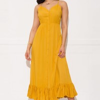 Vicky Maxi Dress- Yellow