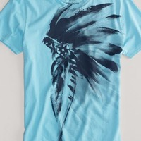 AEO Men's Artistic Graphic Tee (Shimmer)