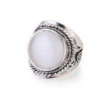 Antique Natural Stone Opal Ring