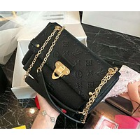 LV Louis Vuitton 2019 new high quality women's fashion chain bag shoulder bag black