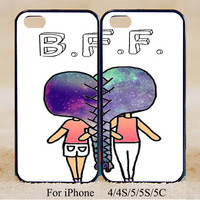 Best Friend Forever ,Double Case,iPhone 5s Case iPhone 5c case iPhone 5 case, iPhone 4 Cases iPhone 4s Cases,Galaxy S3,S4,S5,Couple Csae