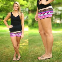 Sunset Adventure Patterned Shorts