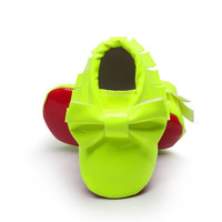 Neon Retro- Red Bottom Baby Moccasins