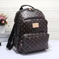 One-nice™ LV Women Casual School Bag Cowhide Leather Backpack