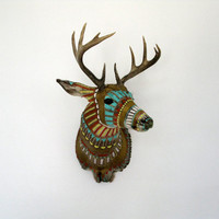 Hand-painted Taxidermy Deer Head - Custom Made