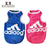 Brand Dog Clothes Lovely Bones Summer Clothes For Dog Cotton Vest Clothing New 2014 Pet Products Dog Product Free Shipping HP099