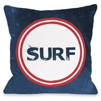 """Surf"" Indoor Throw Pillow by OneBellaCasa, 16""x16"""