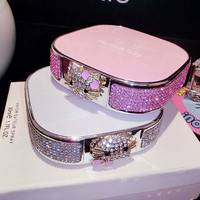 Luxury 12000mAh USB diamond Hello Kitty cartoon cat Portable Power Bank Battery Charger for iPhone 6 s plus all packages phones