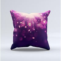 Dark Purple with Desending Lightdrops ink-Fuzed Decorative Throw Pillow