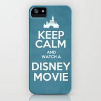 Keep Calm and Watch a Disney Movie iPhone & iPod Case by Bluebird Design